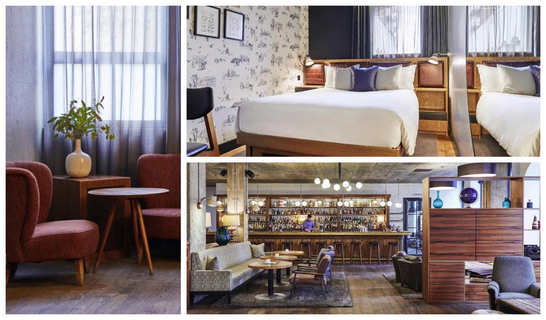 תמונות של הלובי וחדר השינה