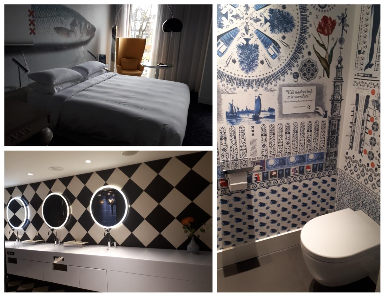 חדר השינה והשירותים