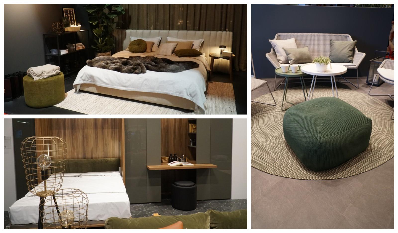 דוגמאות של רהיטים בשילוב הגוון הירוק
