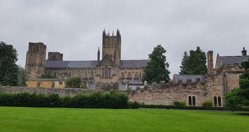 The Bishop's Palace in Wells   England