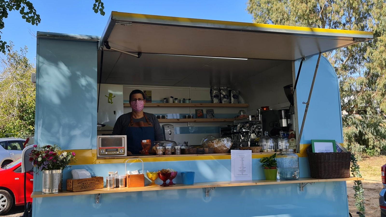 Gili's Coffee stand at Avichail   DesignLife   Ifat Angel