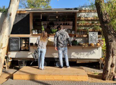 MAMA Coffee stand at Hofit   DesignLife   Ifat Angel