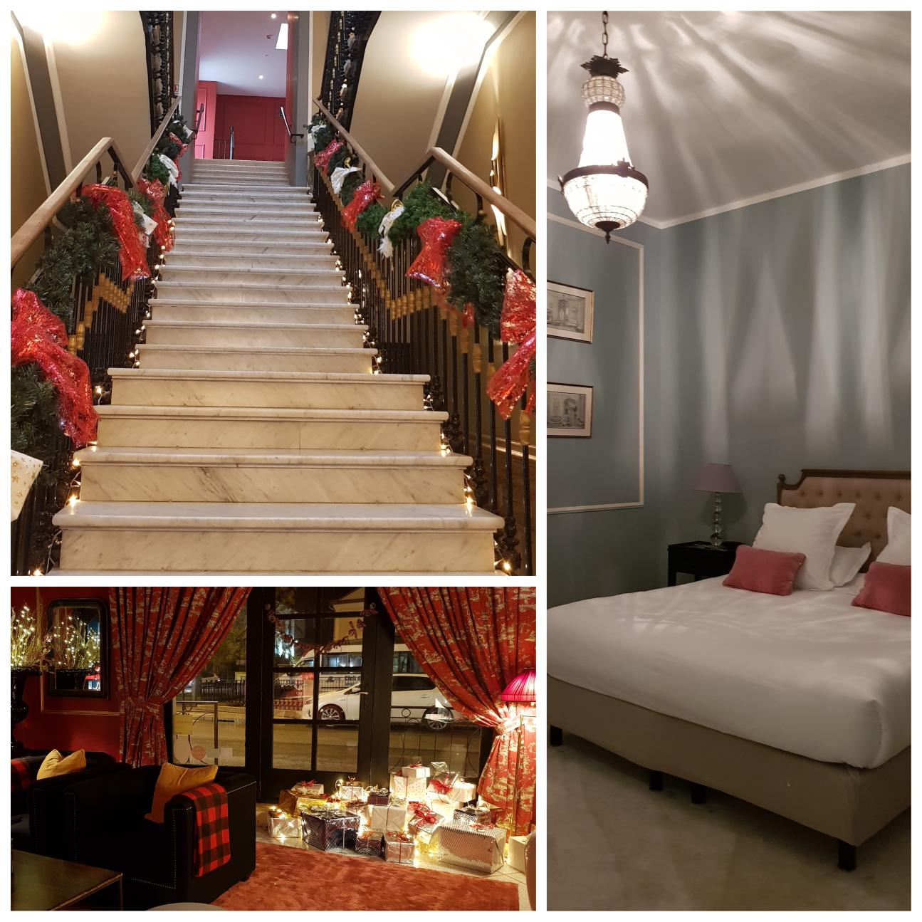 חדר השינה, הלובי והמדרגות